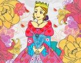 Desenho Princesa medieval pintado por Giovannamg