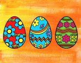 Desenho Três ovos de Páscoa pintado por Craudia