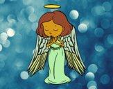 Desenho Um anjo a orar pintado por ceciliaz