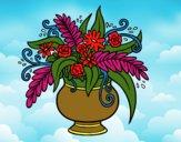 Um vaso com flores