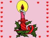 Desenho Vela de natal pintado por ceciliaz