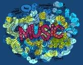 Desenho Colagem musical pintado por ceciliaz