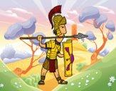 Soldado romano em defesa