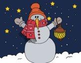 Desenho A neve do Natal do boneco de neve pintado por ceciliaz