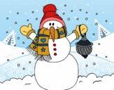 Desenho A neve do Natal do boneco de neve pintado por MiguelDudu