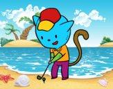 Gato golfista
