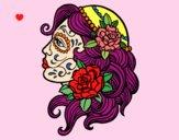 Desenho Tatuagem de Catrina pintado por Emillie