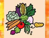 Desenho verduras pintado por Craudia