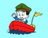 Barco e capitão