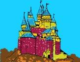 Desenho Castelo medieval pintado por ceciliaz
