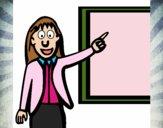 Desenho Professora pintado por Mayanna