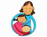 Um abraço para a mãe