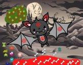 Um morcego do Halloween