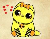 Desenho Gatito emo pintado por isalu