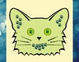 Desenho Gato pintado por m28castro