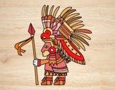 Desenho Guerreiro asteca pintado por m28castro