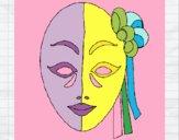 Desenho Máscara italiana pintado por m28castro