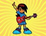 Desenho Menina rocker pintado por m28castro