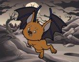 Desenho Morcego simpático pintado por isalu