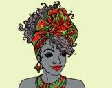 Desenho Mulher africana pintado por ceciliaz