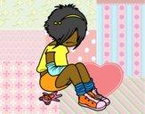 Desenho Rapariga Emo pintado por m28castro