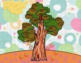 Desenho Árvore fantasia pintado por m28castro