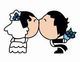 Desenho Beijo da recém casado pintado por Tai88
