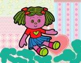 Desenho Boneca de brinquedo pintado por m28castro