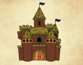Desenho Castelo da fantasia pintado por isalu