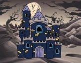 Desenho Castelo de conto pintado por isalu