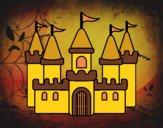 Desenho Castelo fantástico pintado por isalu