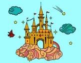 Desenho Castelo tra la nuvole pintado por isalu
