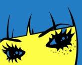 Desenho Emo olhos pintado por m28castro