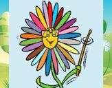 Desenho Flor pintado por Craudia