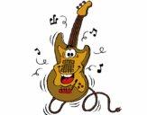 Desenho Guitarra pintado por isalu