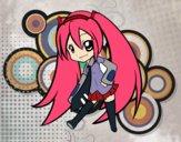Desenho Hatsune Vocaloid pintado por rinata