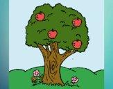Desenho Macieira  pintado por Craudia