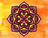 Desenho Mandala crescimento exponencial pintado por leinha