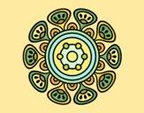 Desenho Mandala crescimento vegetal pintado por leinha