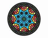 Desenho Mandala equilíbrio mental pintado por teia72