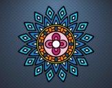 Desenho Mandala flashes pintado por teia72