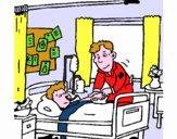 Menino hospitalizado