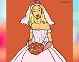 Desenho Noiva pintado por LuizaPictu