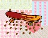 Desenho O skate pintado por m28castro