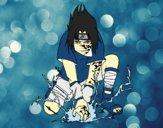 Desenho Sasuke pintado por rinata