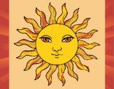 Desenho Sol pintado por Craudia