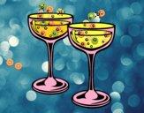 Desenho Taças de champanhe pintado por m28castro