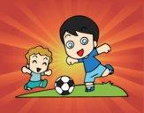 Desenho Futebol durante o recreio pintado por Creeper340