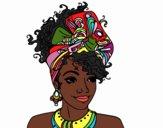 Desenho Mulher africana pintado por rinata