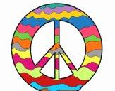 Desenho Símbolo da paz pintado por Craudia